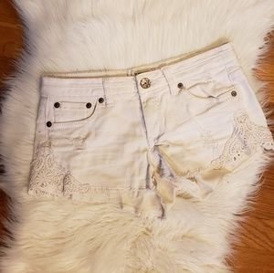 Mudd white jean shorts